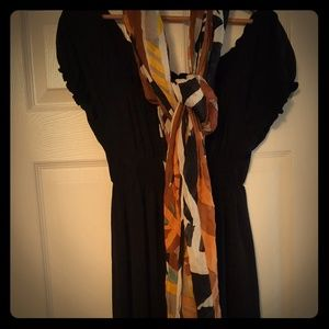 Studio M black dress with scarf